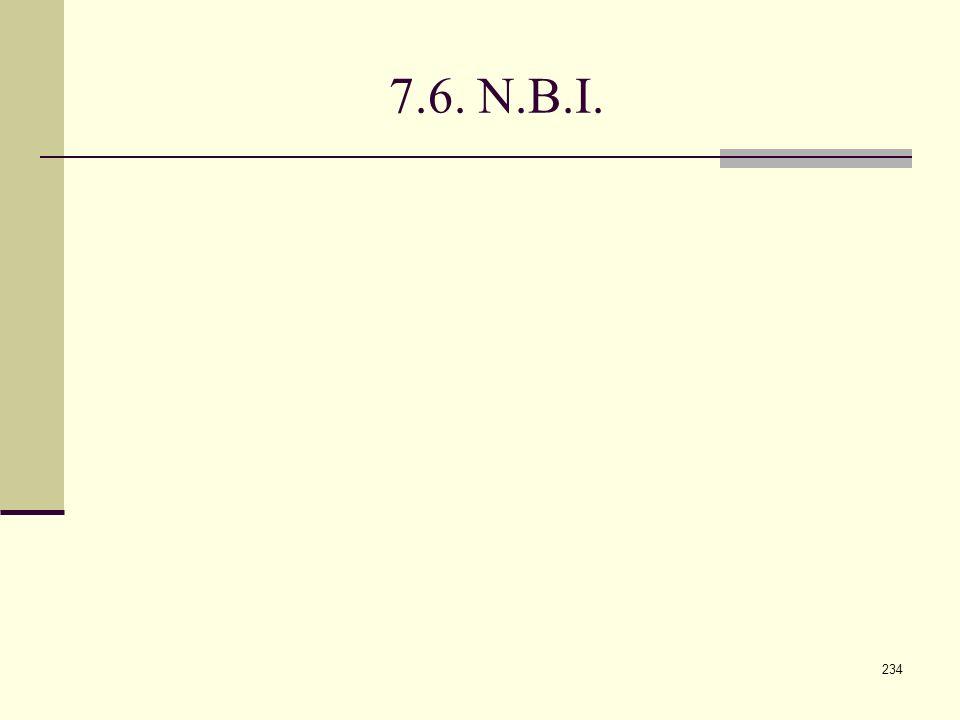 234 7.6. N.B.I.