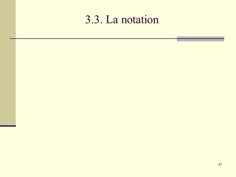 67 3.3. La notation