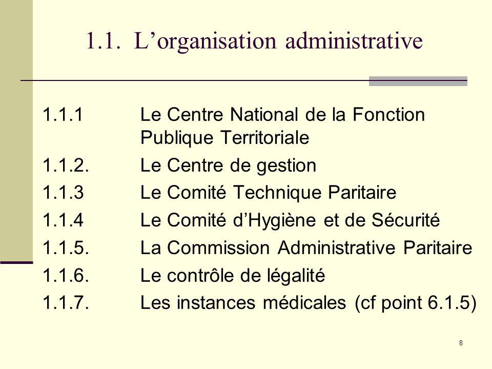 159 6.2.1.Le détachement dans les organismes publics et privés suivants : 3.