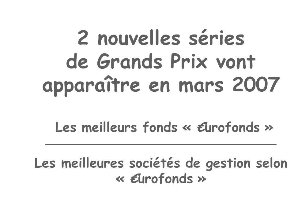 2 nouvelles séries de Grands Prix vont apparaître en mars 2007 Les meilleurs fonds « urofonds » _____________________________________________ Les meil