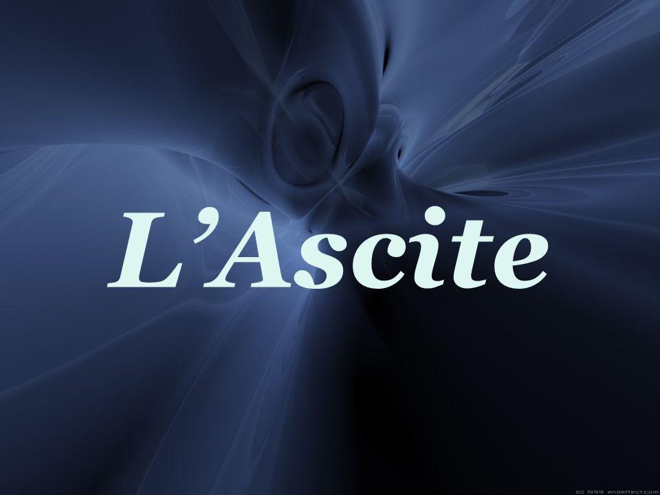 La cirrhose est la cause la plus fréquente de lascite.