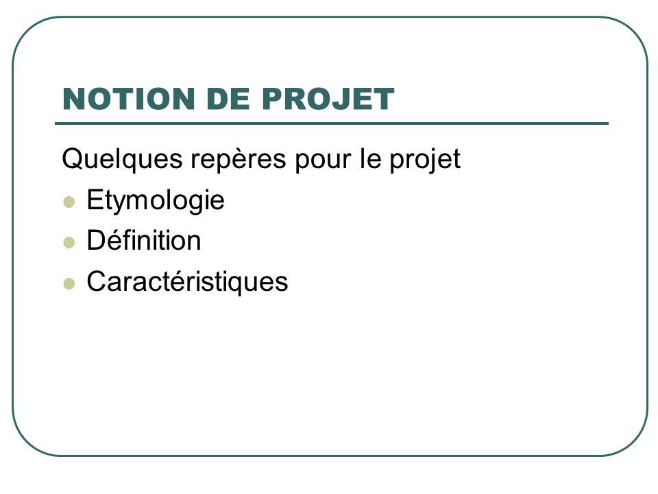 Lorientation La projection dans lavenir Le processus délaboration de projet nécessite à un moment donné la projection dans lavenir.