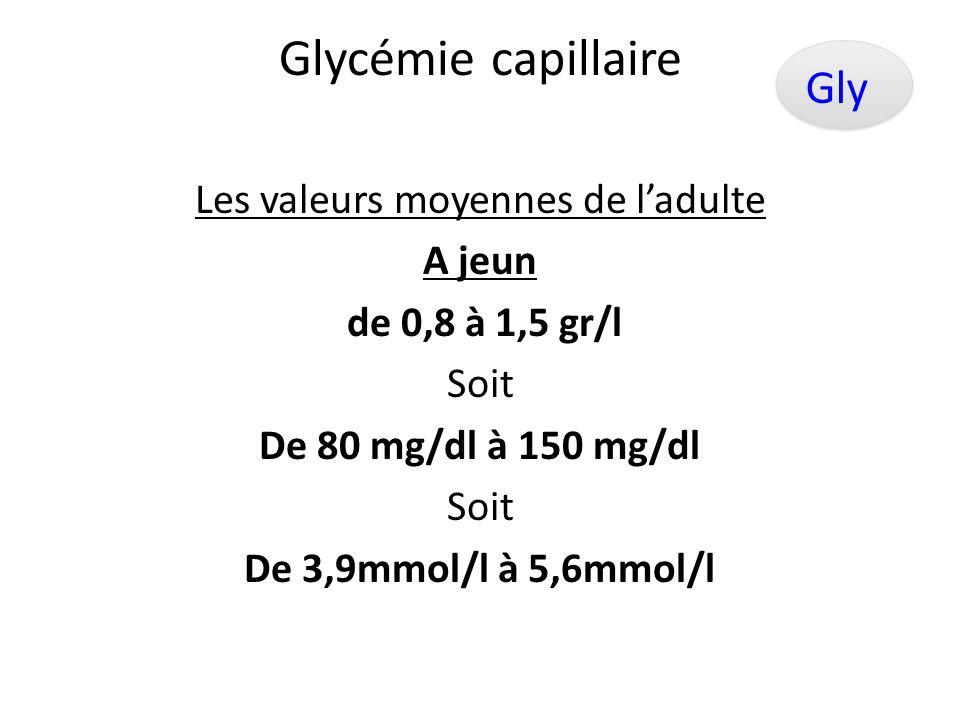 Glycémie capillaire Consiste à obtenir une mesure instantanée du taux de sucre dans le sang Glu