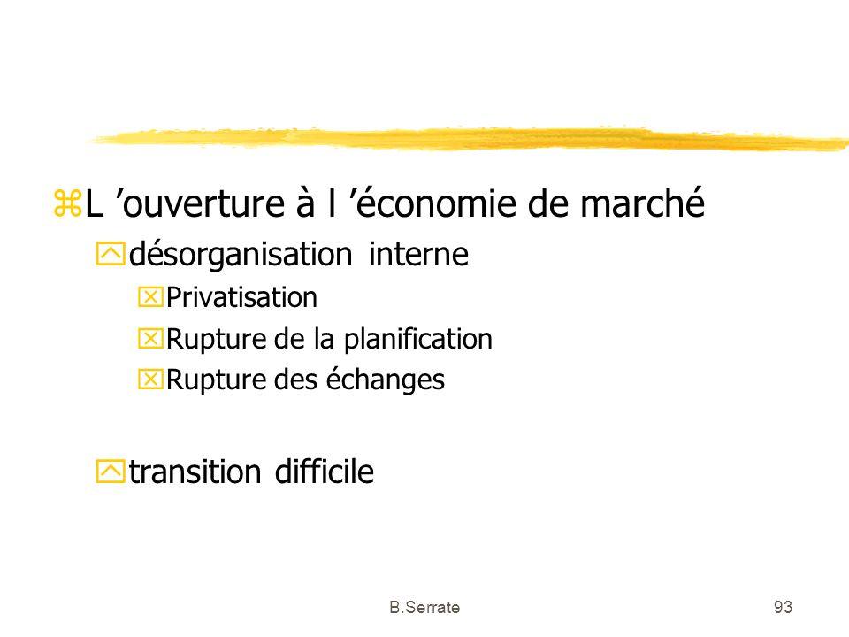 zL ouverture à l économie de marché ydésorganisation interne xPrivatisation xRupture de la planification xRupture des échanges ytransition difficile 9