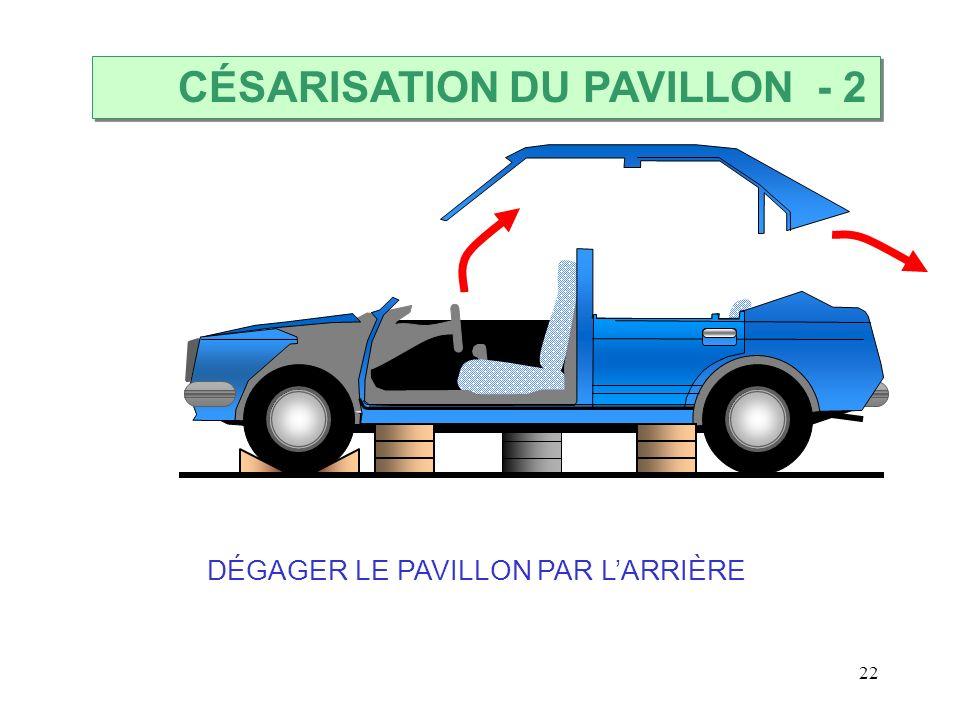 22 DÉGAGER LE PAVILLON PAR LARRIÈRE CÉSARISATION DU PAVILLON - 2