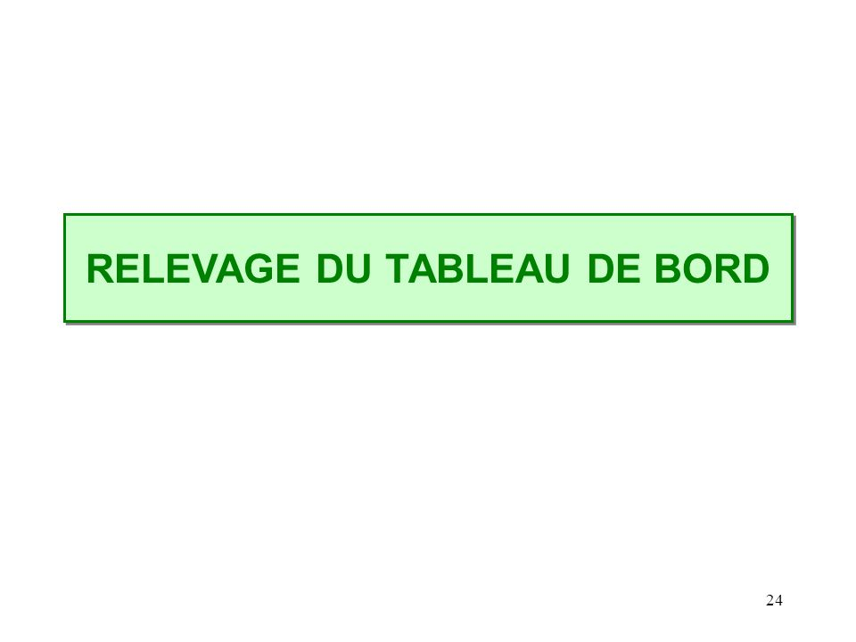 24 RELEVAGE DU TABLEAU DE BORD