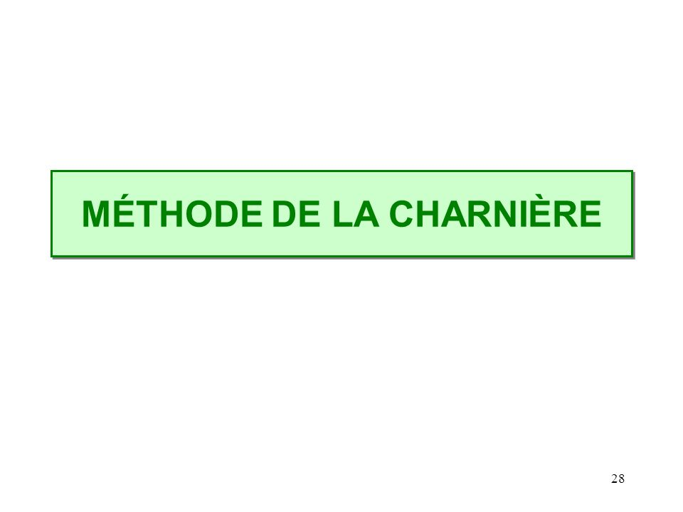 28 MÉTHODE DE LA CHARNIÈRE