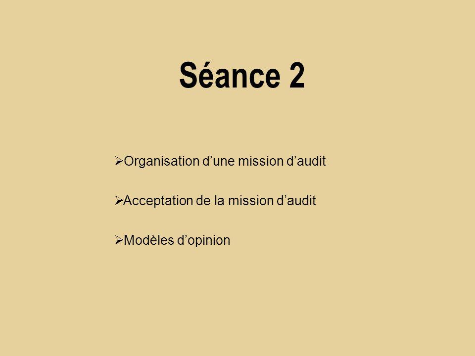Organisation dune mission daudit