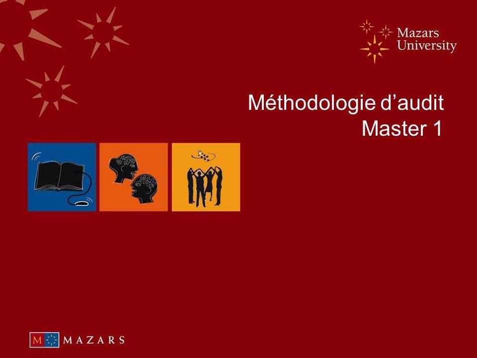 © July 2008 Méthodologie daudit Master 1