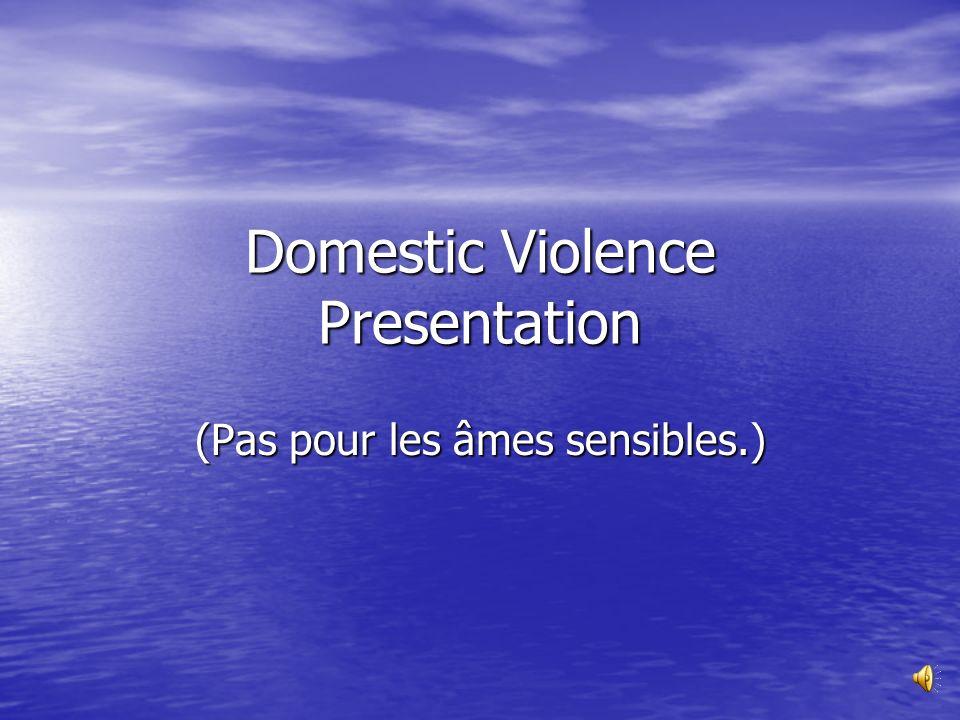 Domestic Violence Presentation (Pas pour les âmes sensibles.)