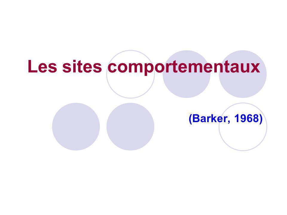Les sites comportementaux (Barker, 1968)