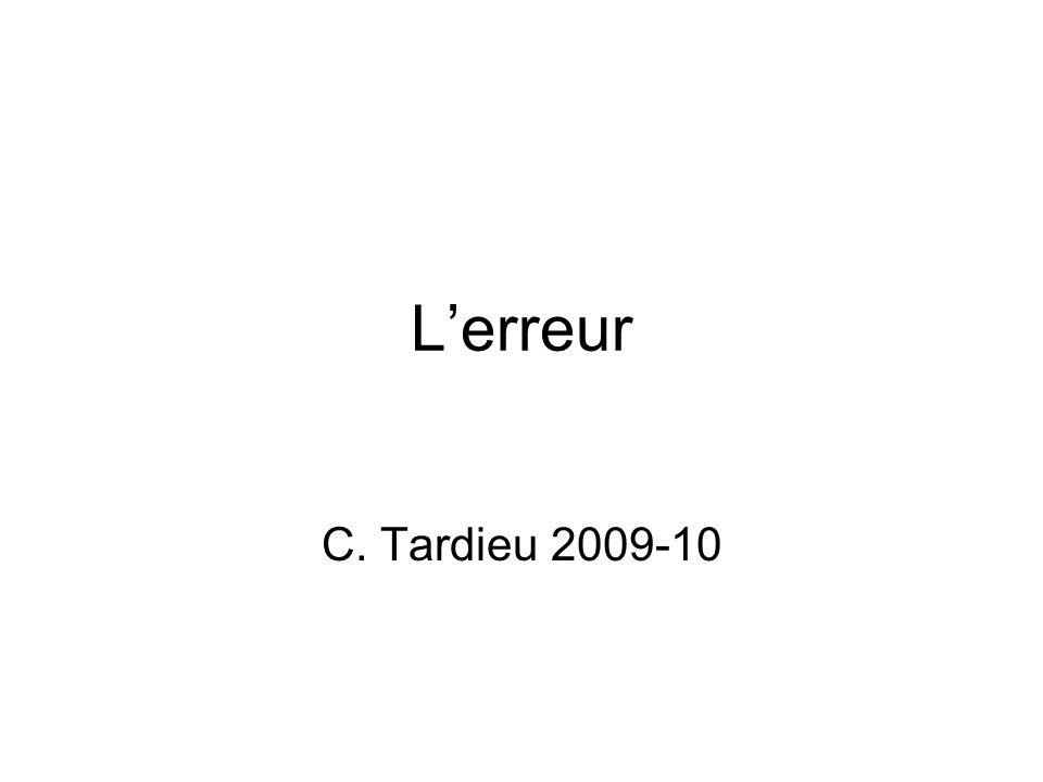 Lerreur C. Tardieu 2009-10