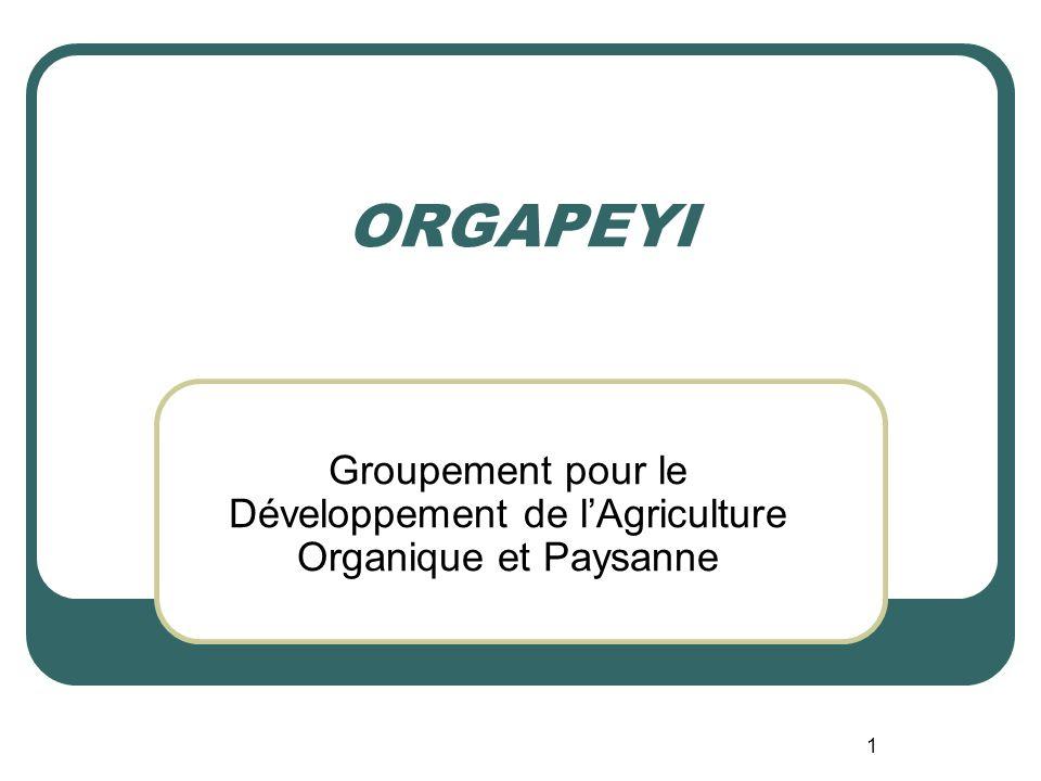 1 ORGAPEYI Groupement pour le Développement de lAgriculture Organique et Paysanne