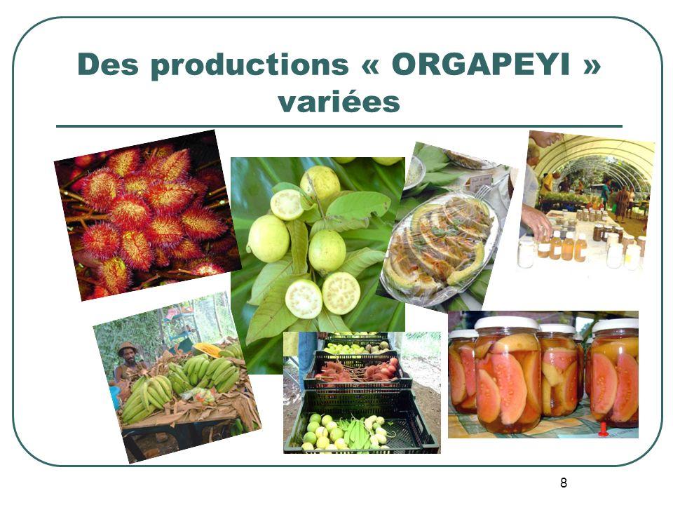 8 Des productions « ORGAPEYI » variées