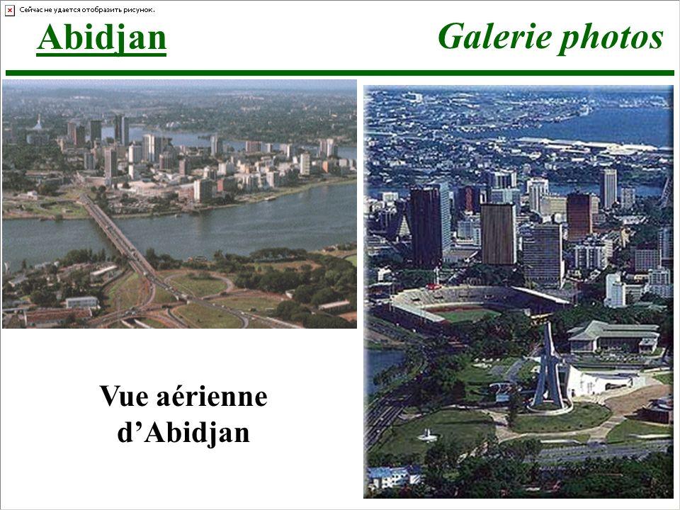 Abidjan Galerie photos Vue aérienne dAbidjan