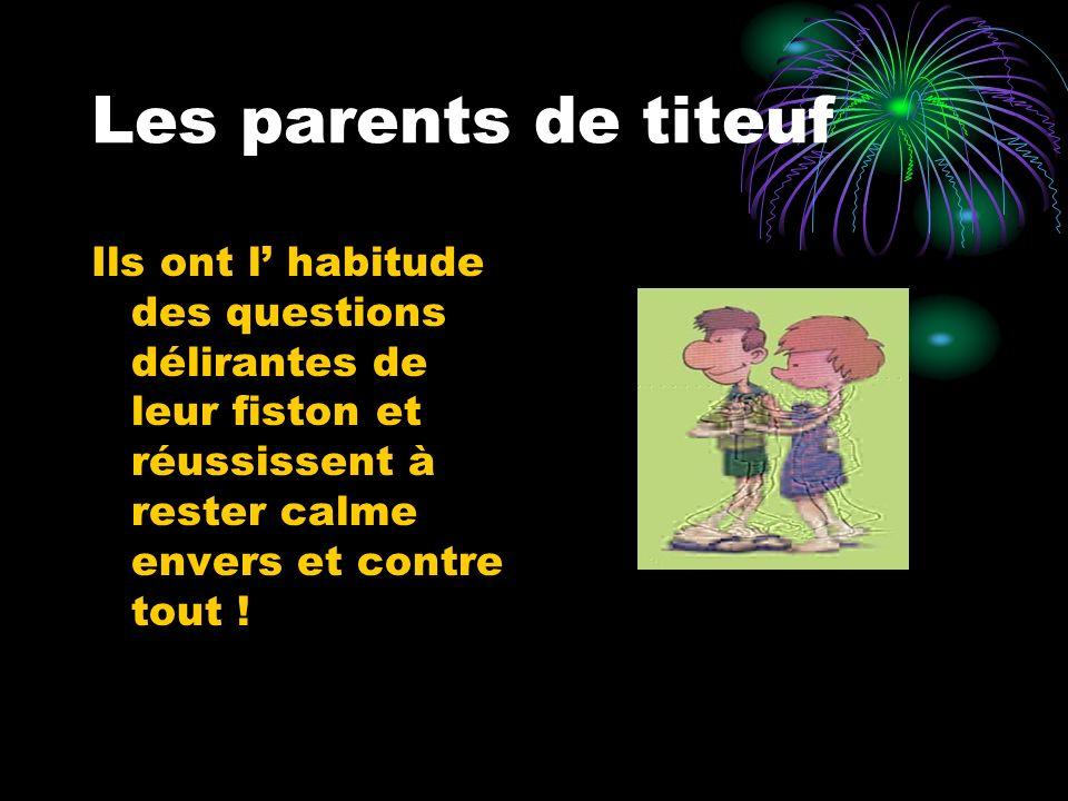 Les parents de titeuf Ils ont l habitude des questions délirantes de leur fiston et réussissent à rester calme envers et contre tout !