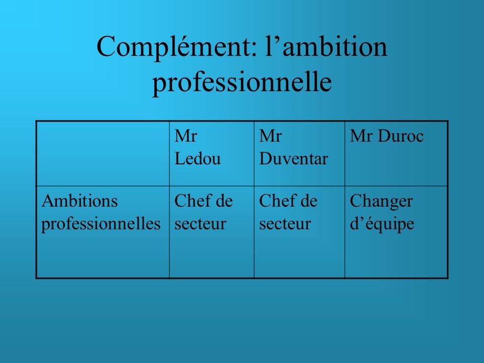 Application à la matrice des facettes du leadership
