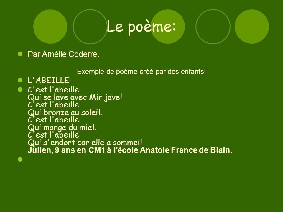 Le poème: Par Amélie Coderre.