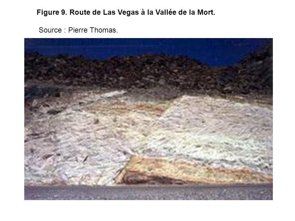 Terrains volcano-sédimentaires affectés par une faille.