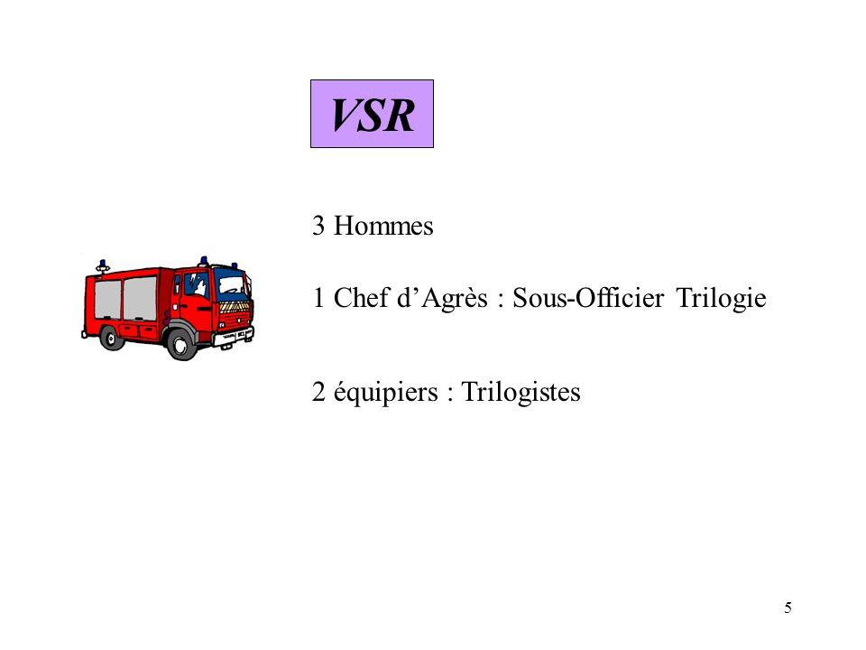 6 III – Les Rôles VLCG ORGANISATION DES SECOURS