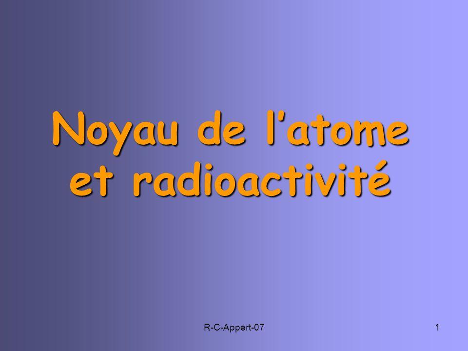 R-C-Appert-071 Noyau de latome et radioactivité
