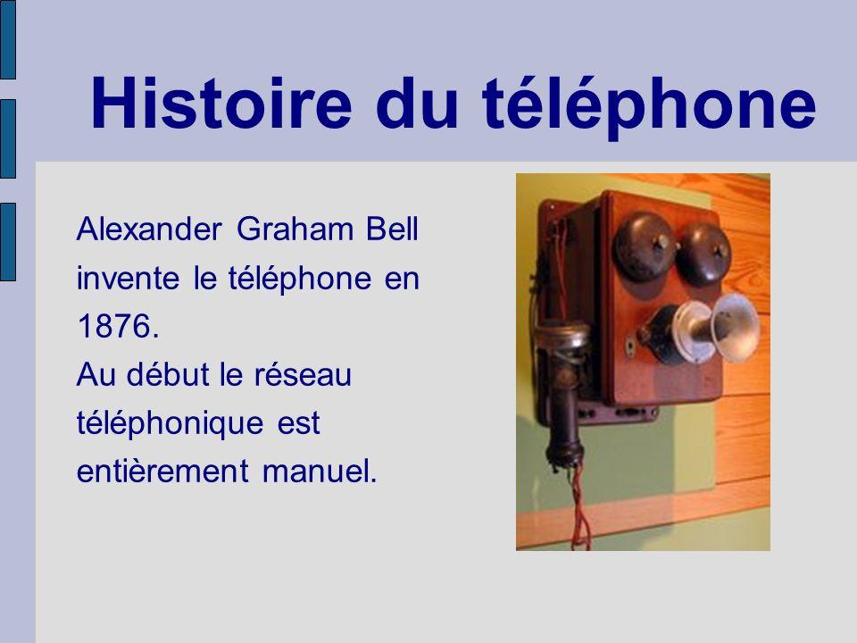 Histoire du téléphone Alexander Graham Bell invente le téléphone en 1876.