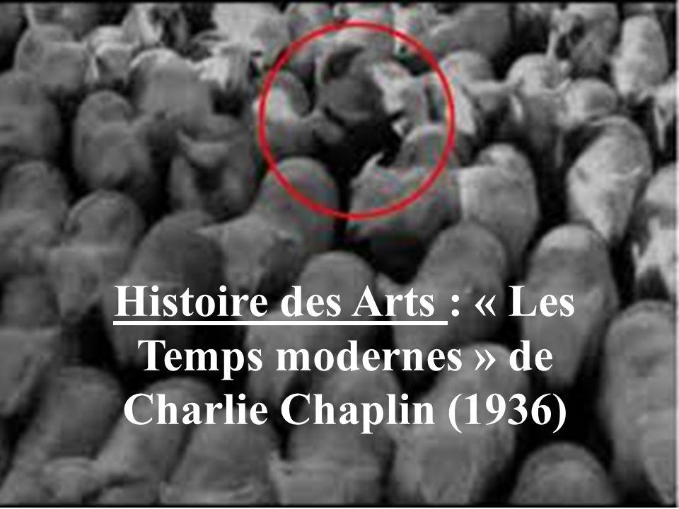 Histoire des Arts : « Les Temps modernes » de Charlie Chaplin (1936)
