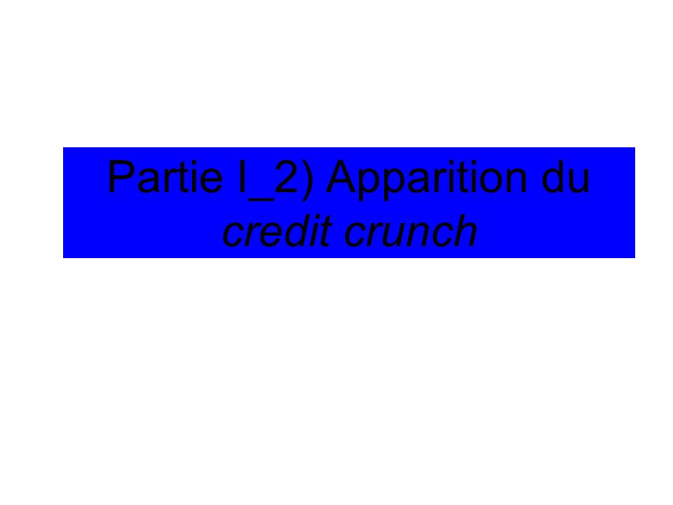 Partie I_2) Apparition du credit crunch