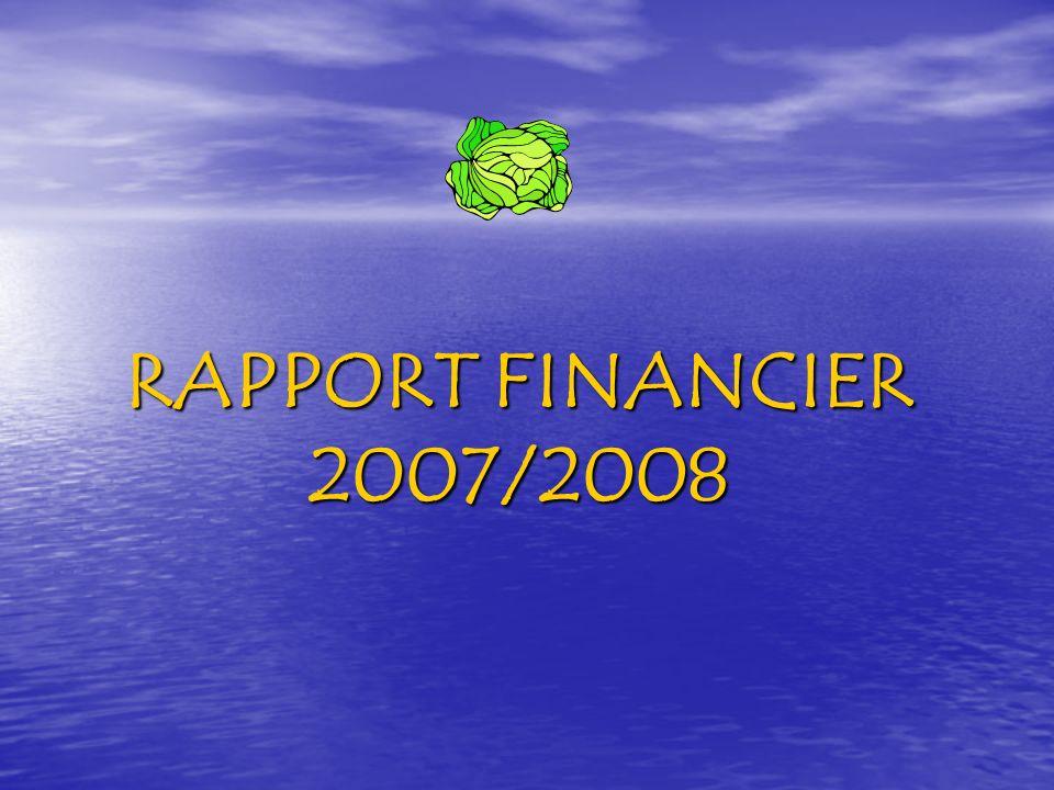 RAPPORT FINANCIER 2007/2008