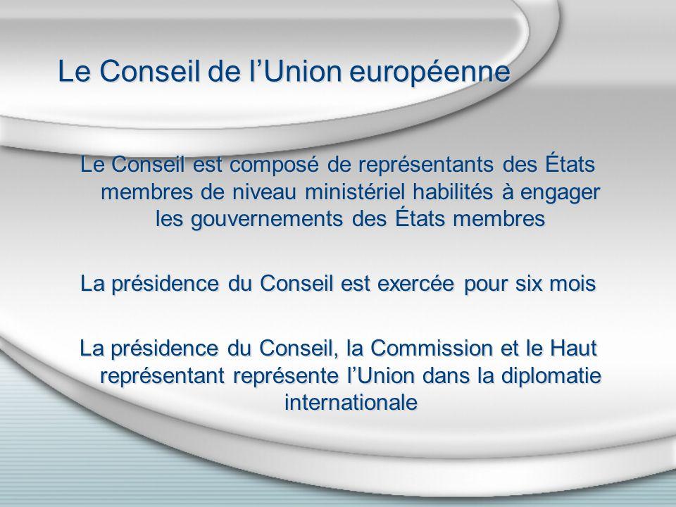 Le Parlement européen Les parlementaires sont élus pour cinq ans au suffrage universel direct.
