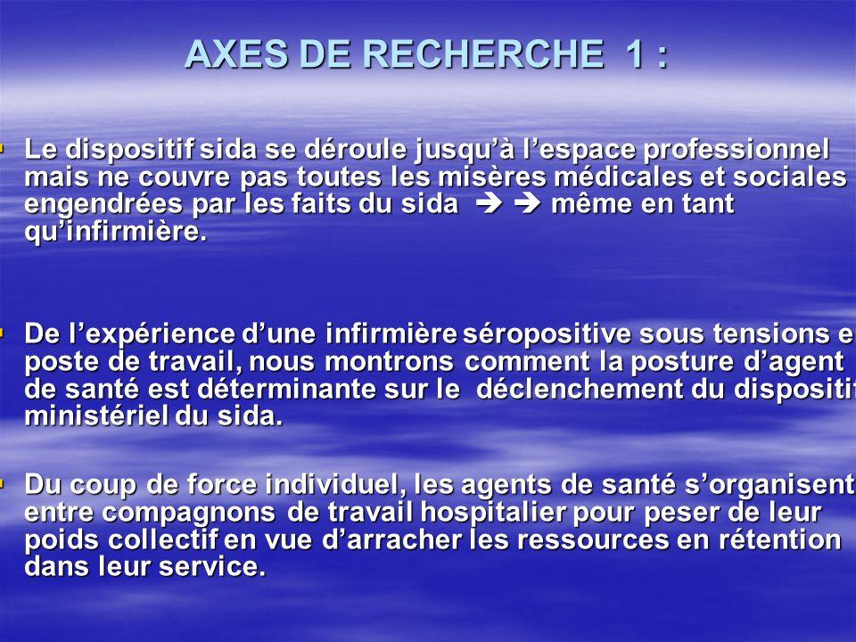 A- Les stigmates sous le poids des tensions en milieu de travail 6 Letou fait recours au dispositif ministériel du sida.