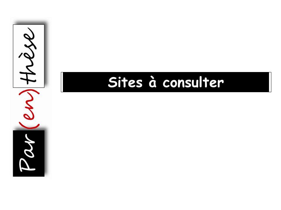 Sites à consulter