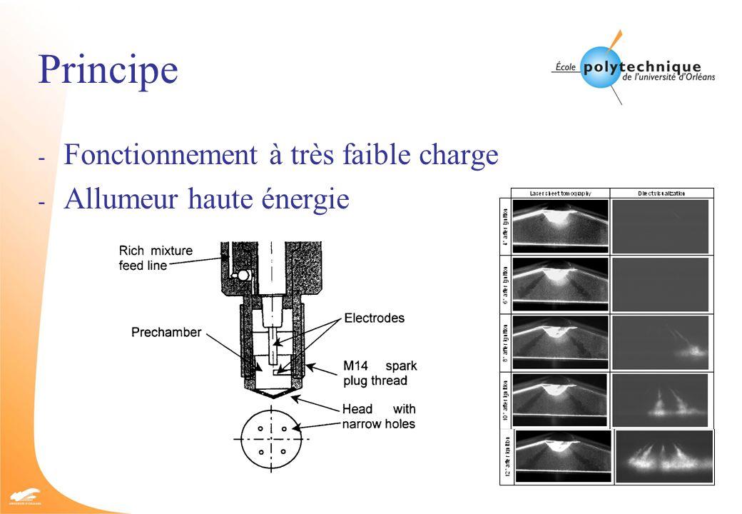 Principe - Fonctionnement à très faible charge - Allumeur haute énergie