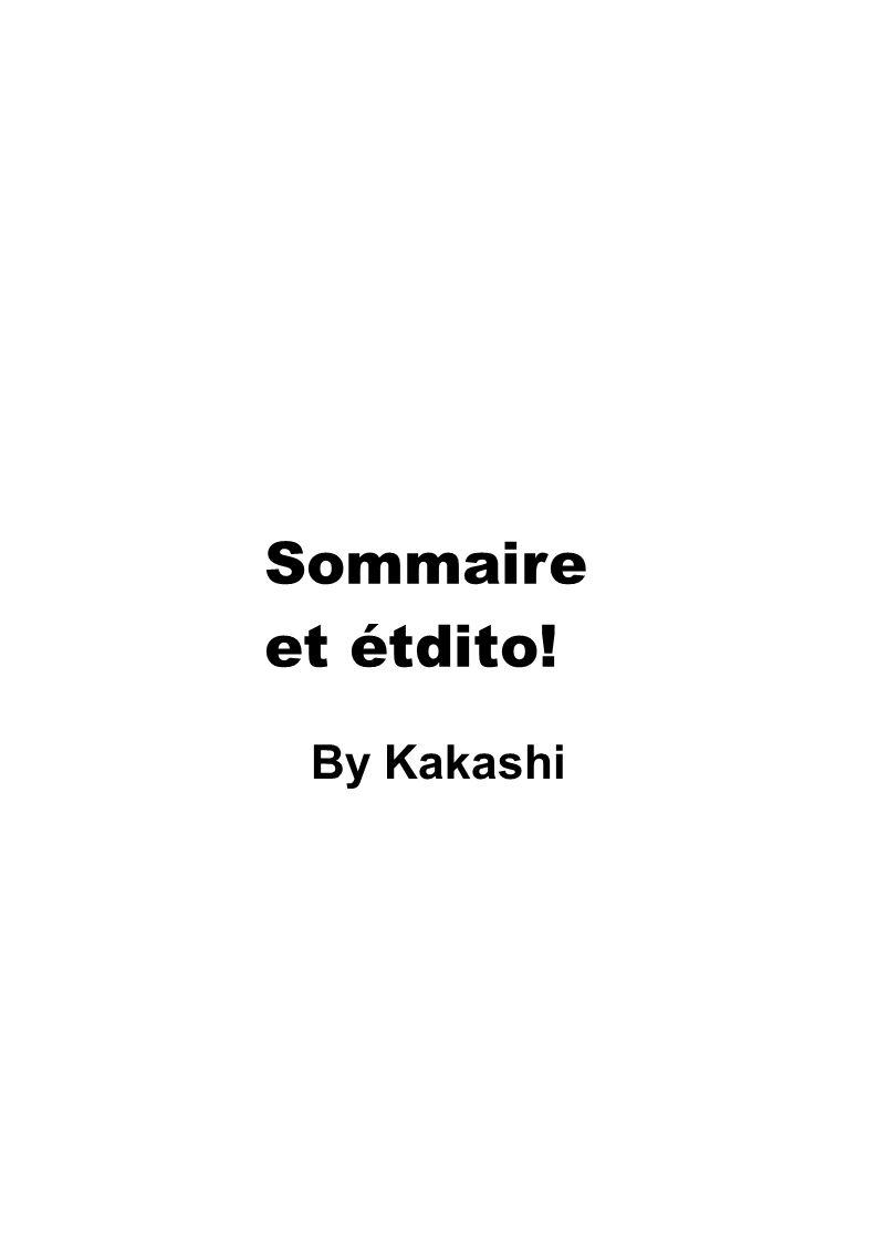 Sommaire et étdito! By Kakashi