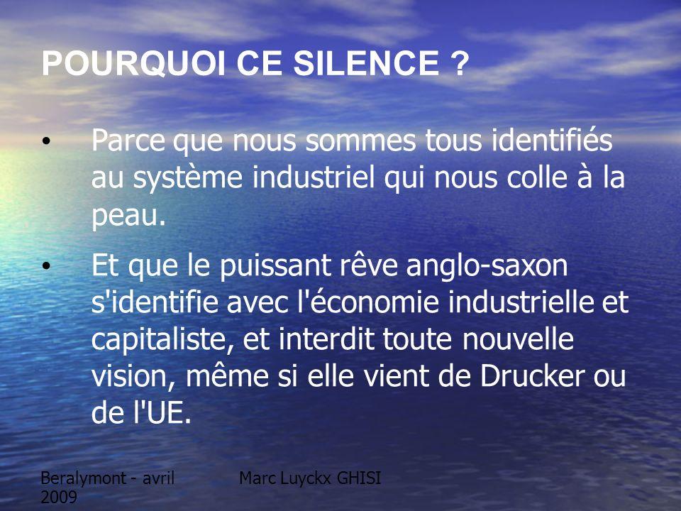 Beralymont - avril 2009 Marc Luyckx GHISI LA NON VIOLENCE ENTRE ETATS La modernité a inventé un progrès politique notoire: lEtat de Droit = La non-violence au sein de lEtat et Méditation du judiciaire.
