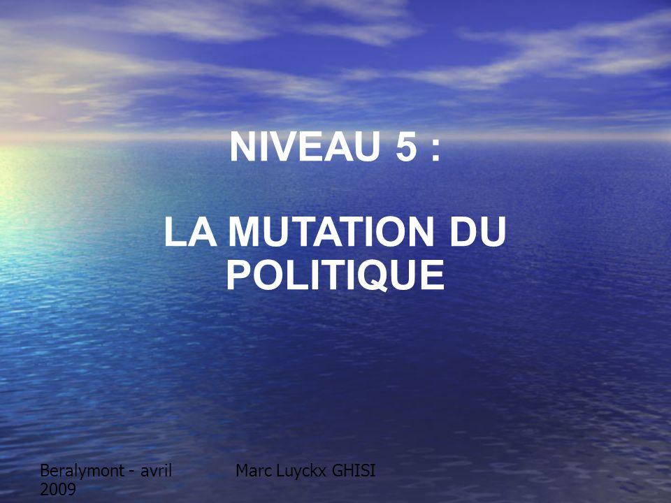 Beralymont - avril 2009 Marc Luyckx GHISI NIVEAU 5 : LA MUTATION DU POLITIQUE