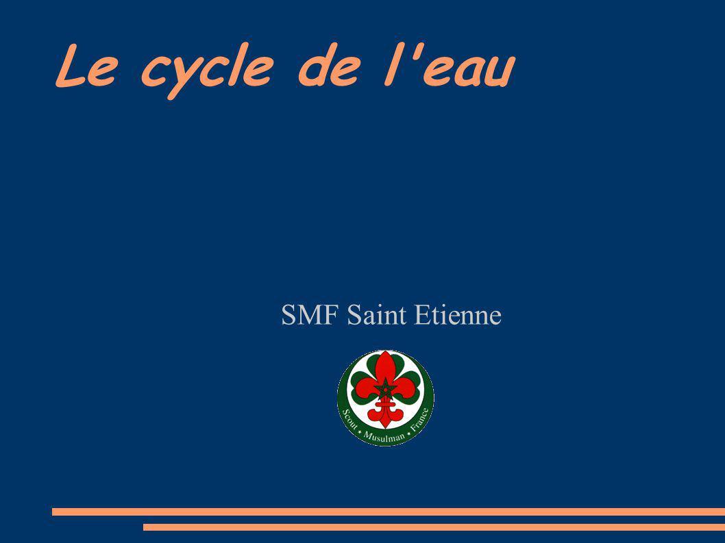 Le cycle de l'eau SMF Saint Etienne