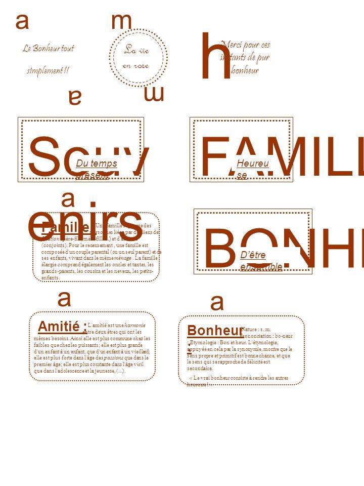 BONHEUR FAMILLE a a Le Bonheur tout simplement !.