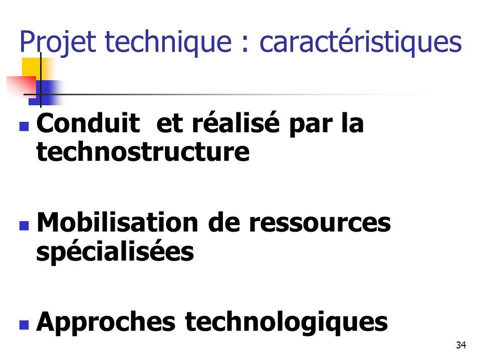 35 Projet technique Risques : Faible justification économique Résistance à la mise en place Bien adaptés pour : Optimisation de processus Innovation technique