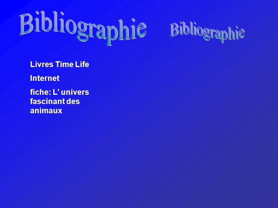 Livres Time Life Internet fiche: L univers fascinant des animaux