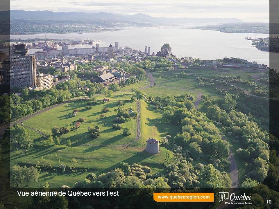 Vue aérienne de Québec vers lest 10