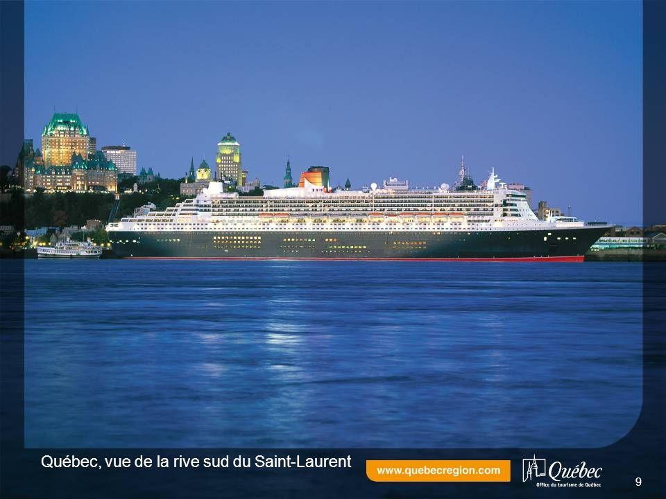 Québec, vue de la rive sud du Saint-Laurent 9
