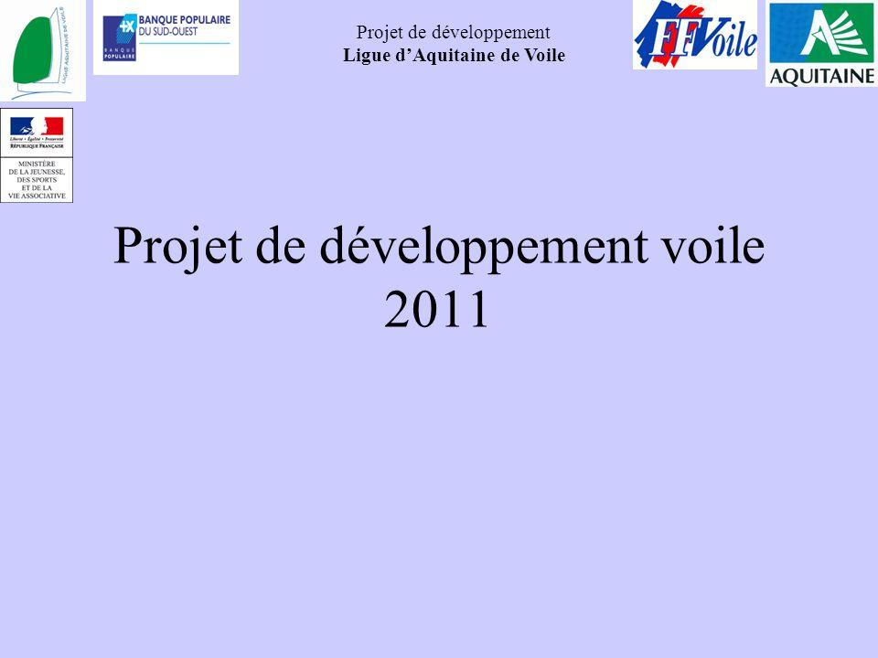 Projet de développement Ligue dAquitaine de Voile Projet de développement voile 2011