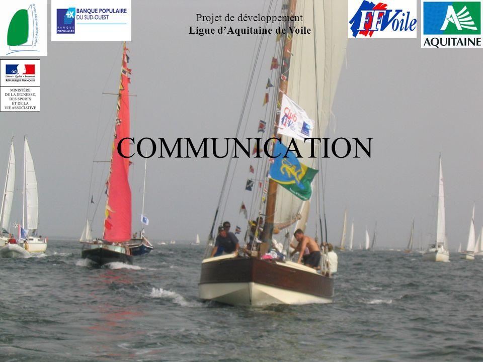 Projet de développement Ligue dAquitaine de Voile COMMUNICATION