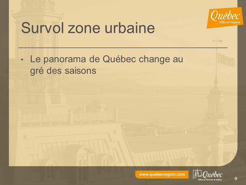 99 Survol zone urbaine Le panorama de Québec change au gré des saisons