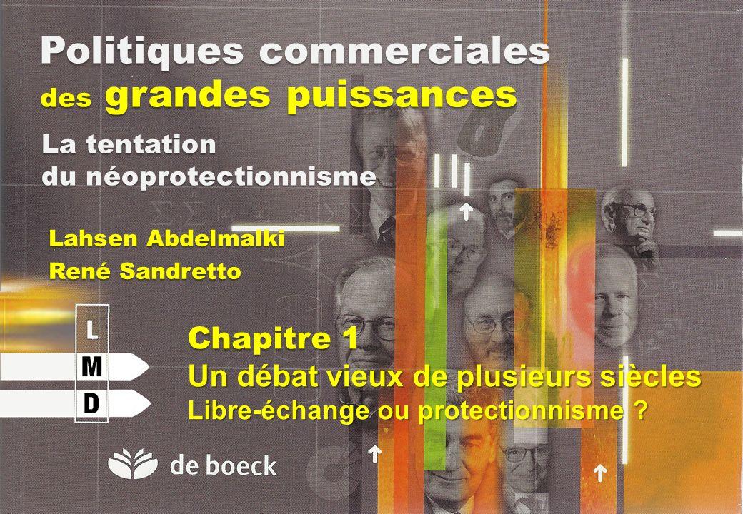 Politiques commerciales des grandes puissances Lahsen Abdelmalki René Sandretto La tentation du néoprotectionnisme Chapitre 1 Un débat vieux de plusie