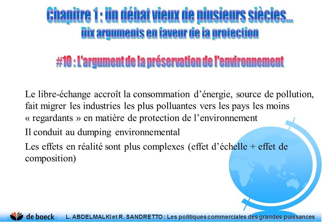 Le libre-échange accroît la consommation dénergie, source de pollution, fait migrer les industries les plus polluantes vers les pays les moins « regar
