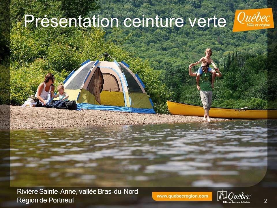 2 Présentation ceinture verte Rivière Sainte-Anne, vallée Bras-du-Nord Région de Portneuf