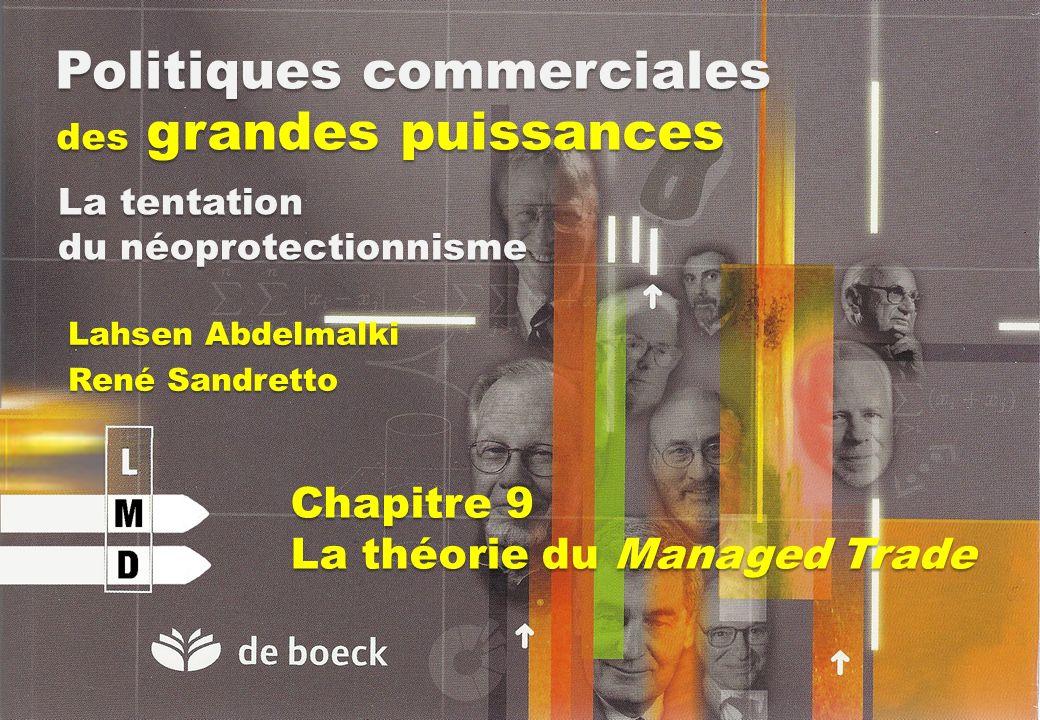 Politiques commerciales des grandes puissances Lahsen Abdelmalki René Sandretto La tentation du néoprotectionnisme Chapitre 9 La théorie du Managed Tr