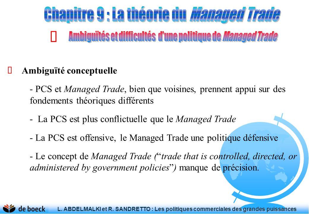 L. ABDELMALKI et R. SANDRETTO : Les politiques commerciales des grandes puissances L. ABDELMALKI et R. SANDRETTO : Les politiques commerciales des gra